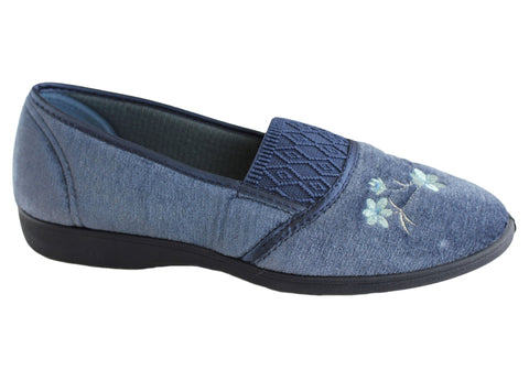 Grosby SASHA Mid Blue Slipper