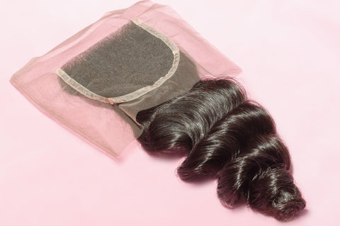 4x4 Loose Wave Lace Closure Natural Color, #2, #4