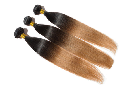 Straight Brazilian Remy Hair Single Bundle (Ombre or 99j)