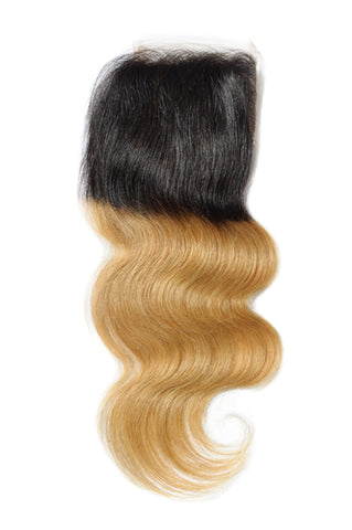 4x4 Lace Closure Two Tone Body Wave (Ombre or Burgundy)
