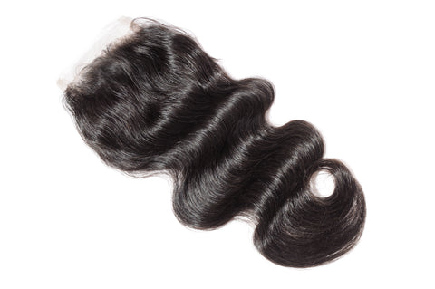 4x4 Body Wave Lace Closure Natural Color, #2, #4
