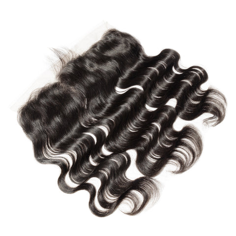 Frontal Lace Closure Body Wave 13x4 Baby Hairs Preplucked Natural Color, #2, #4