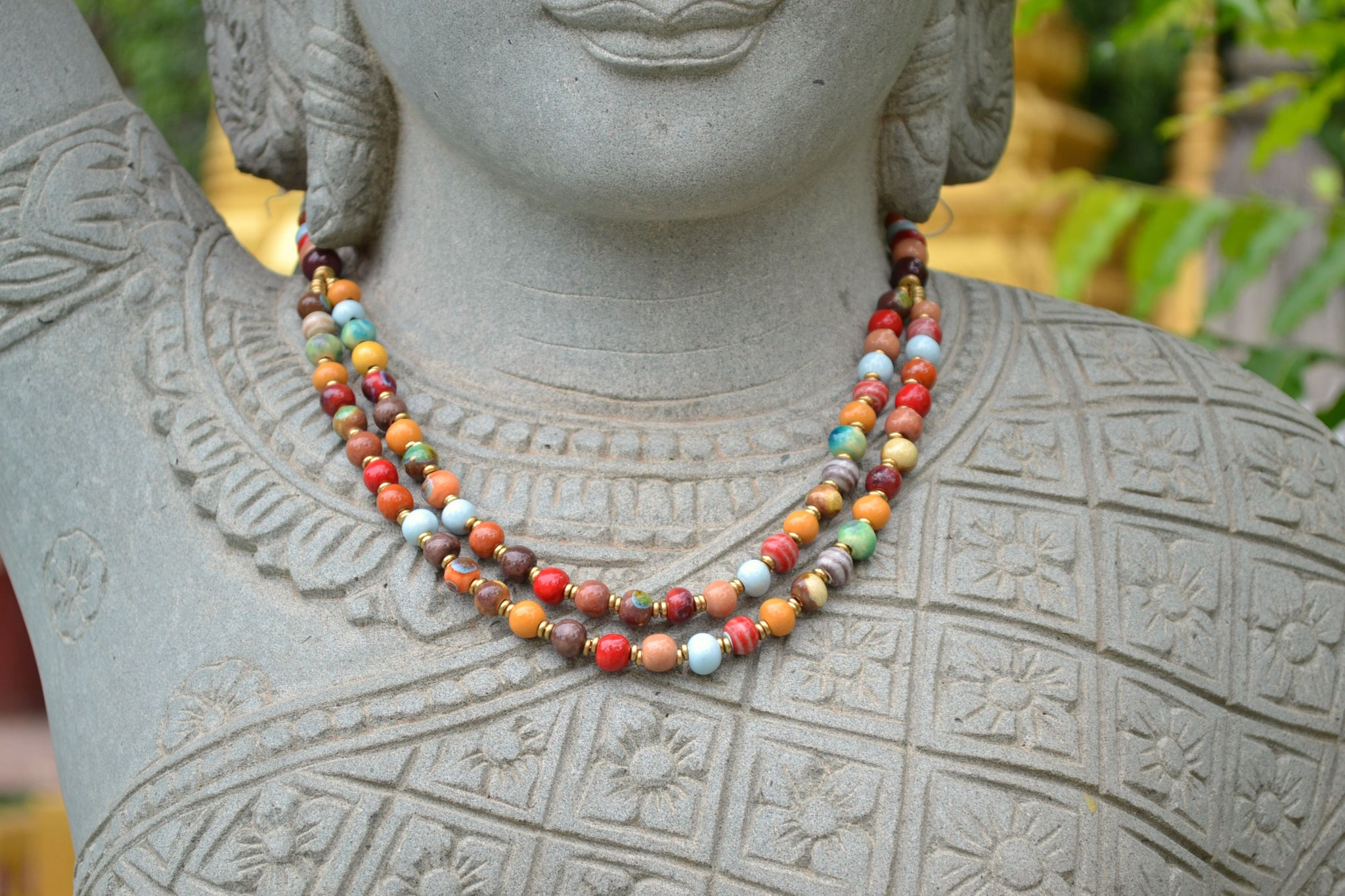Double Stranded ~ Multi Color ~ a little smaller beads