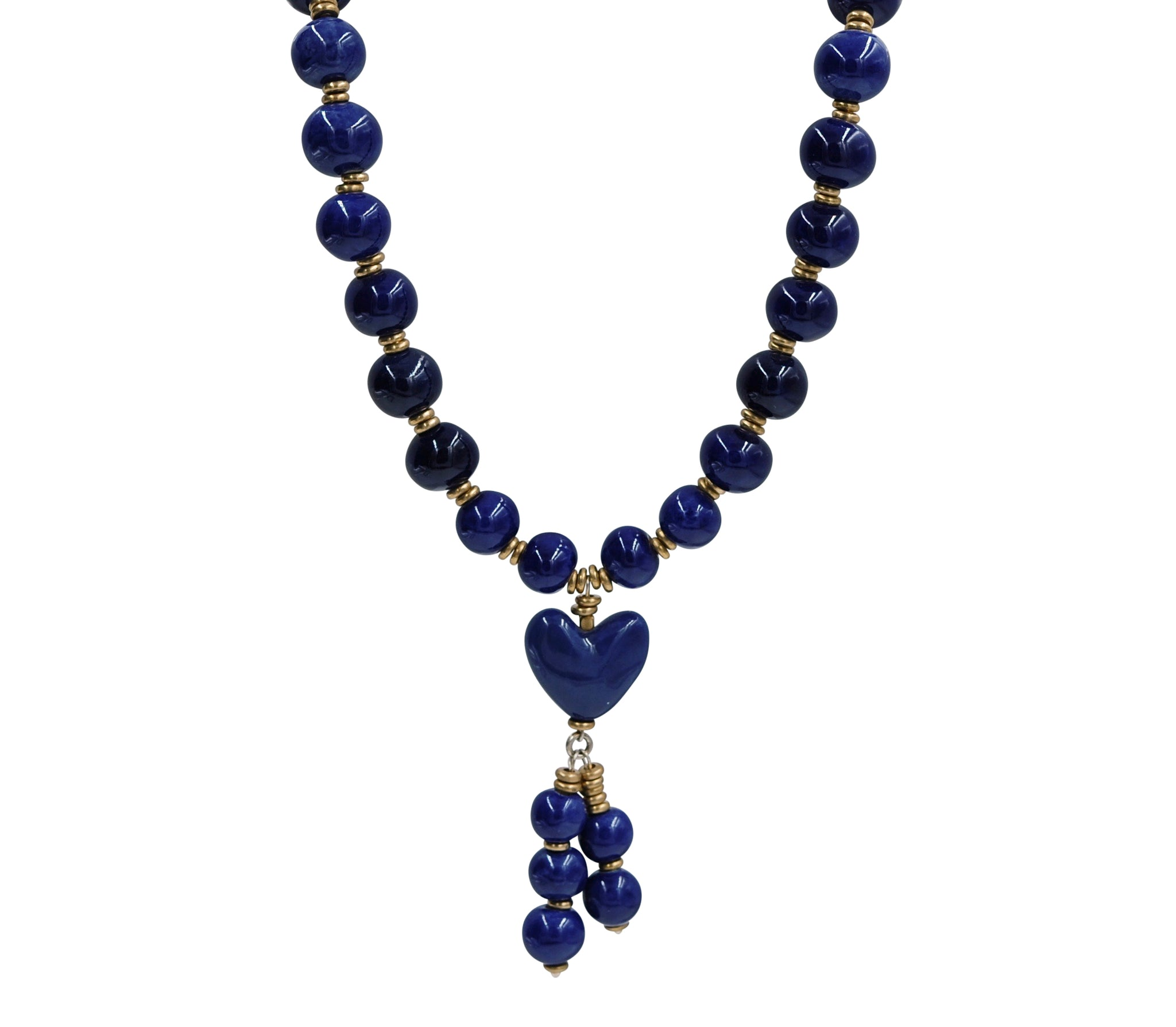 Heart Tassel in Deep Blue