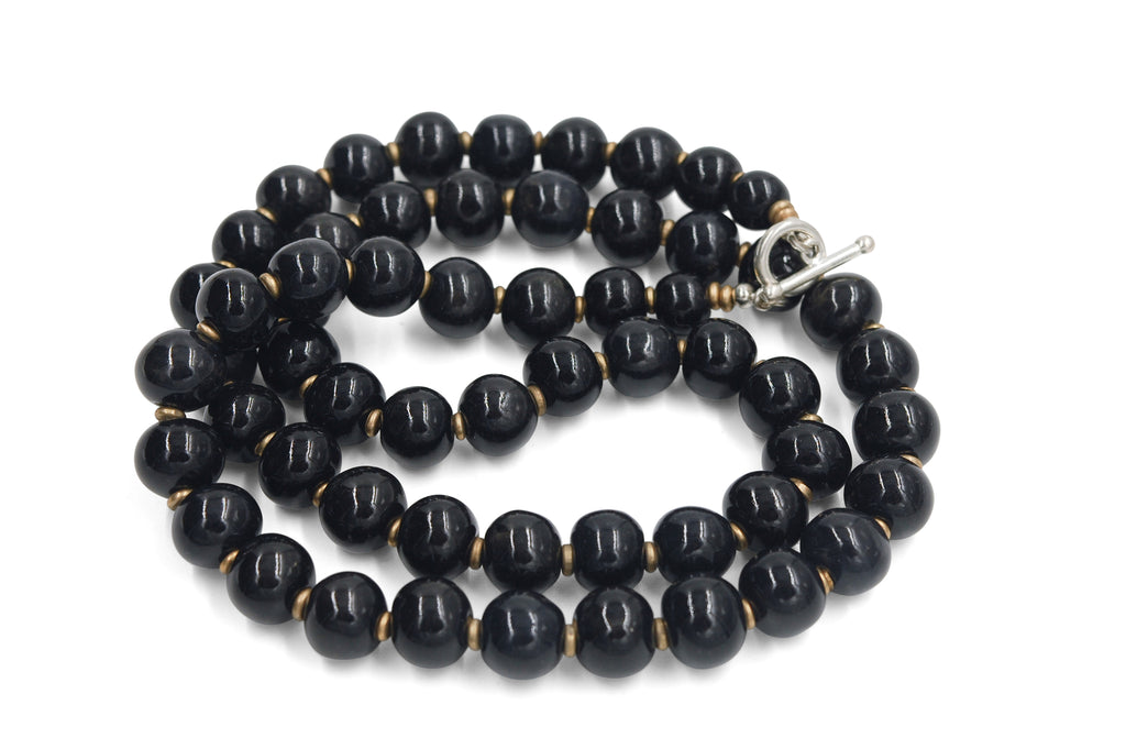 Single Strand ~ Black Ebony Medium Length
