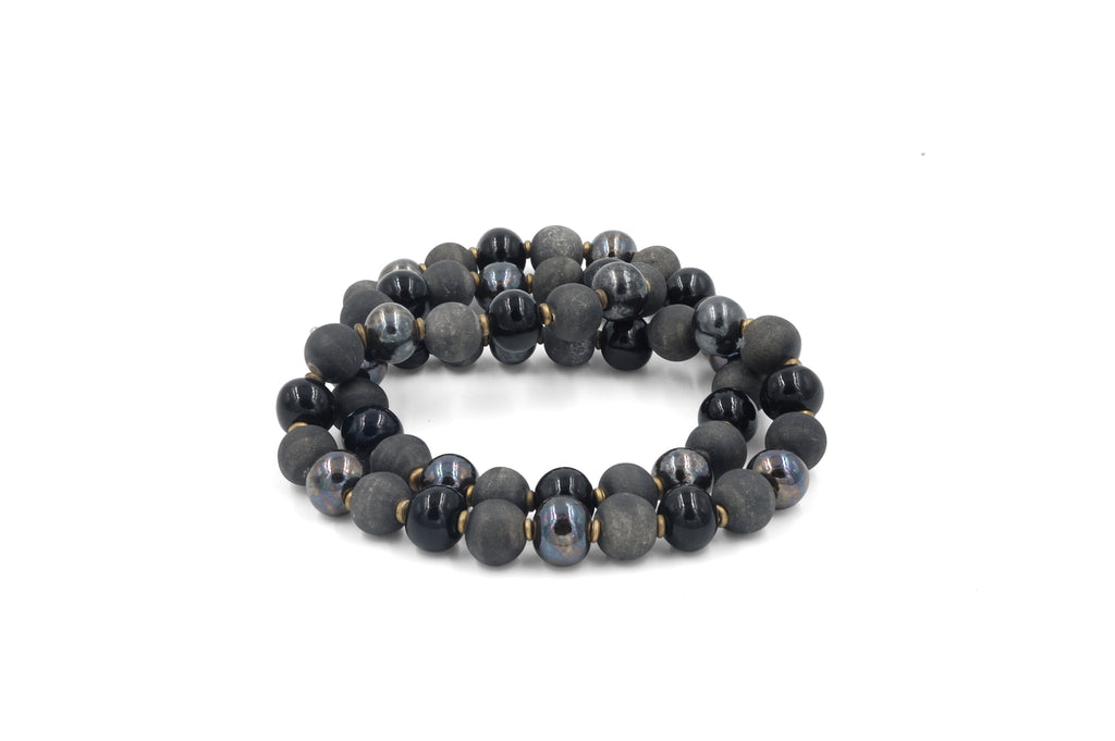 Single Strand ~ Grey Matte~Gunmetal~Black ~ More Masculine