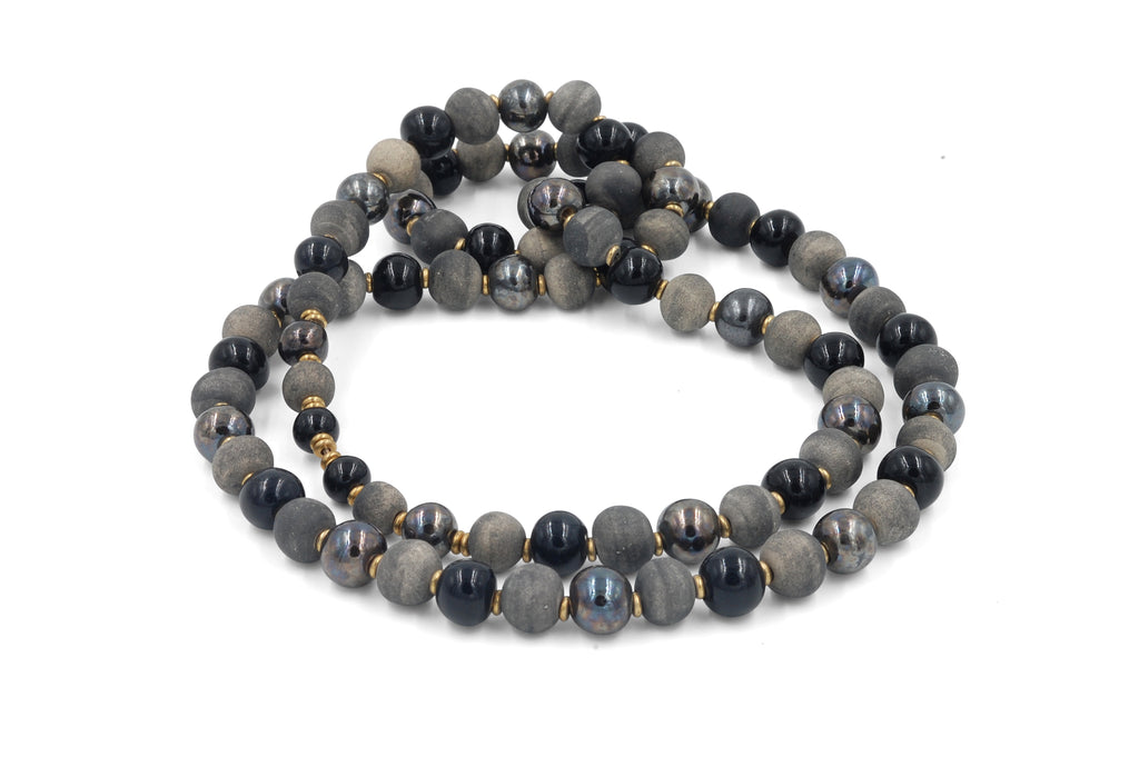 Single Strand ~ Long Grey Matte~Gunmetal~Black ~ More Masculine
