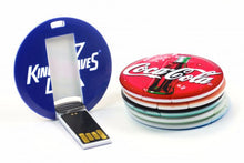 FD-208 Small Round Credit card size USB 1GB-16GB