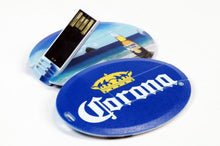 FD-209 Oval Shaped Credit card size USB 1GB-16GB