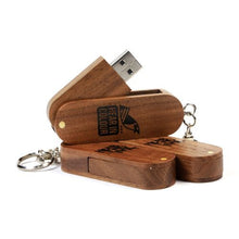 FD-136 Wooden Swivel USB 1GB-32GB