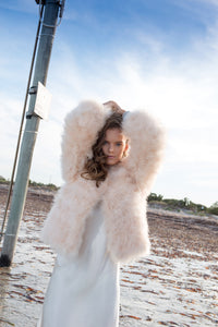PEACHES AND CREAM FEATHER JACKET
