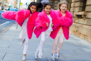 BABY FRIO FEATHER JACKET | HOT PINK