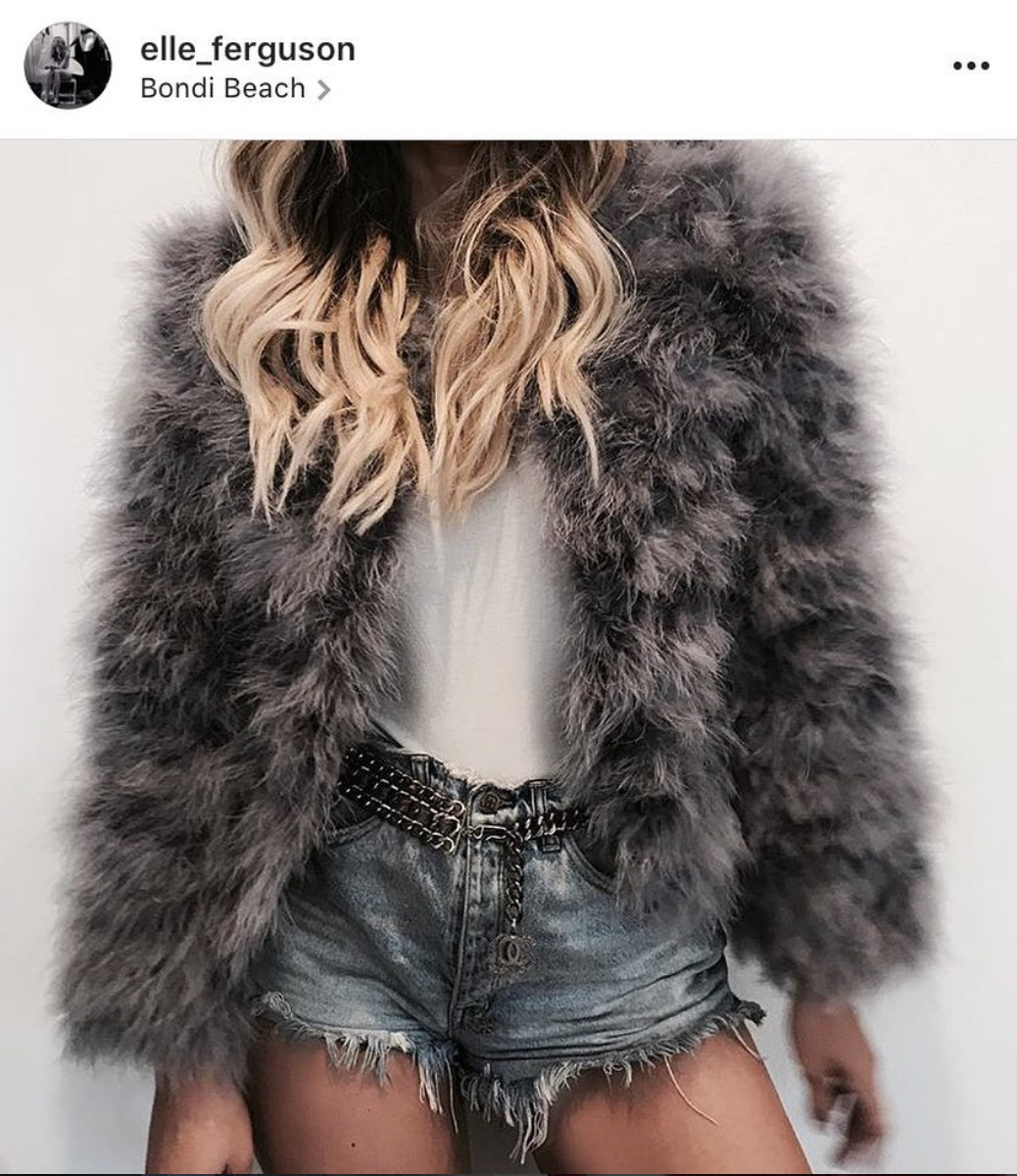 GREY GOOSE FEATHER JACKET