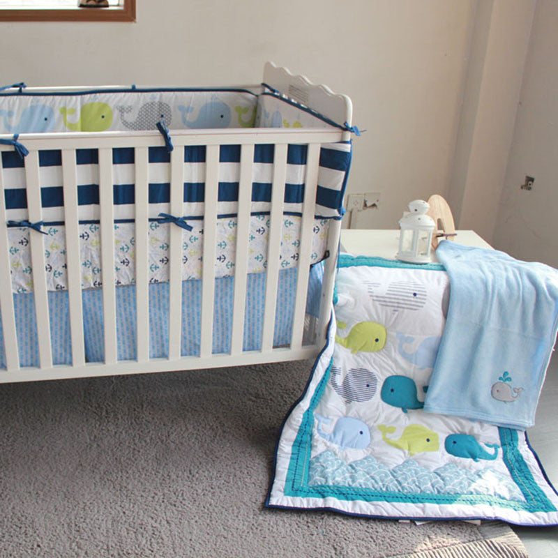 mountains bed skirt nursery bm blue crib products project