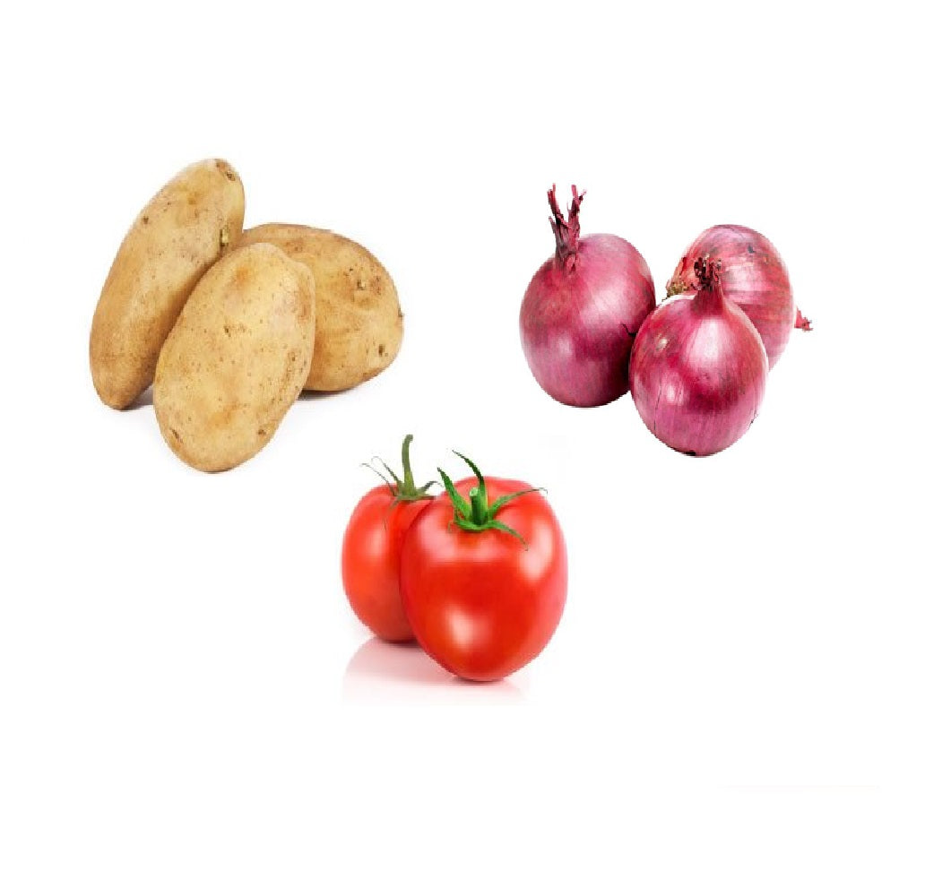 Potato, Onion, Tomato (2Kg each) Combo