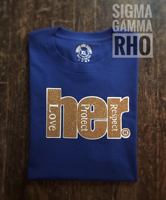 HER 14 Karat Women's  Royal Blue Tee