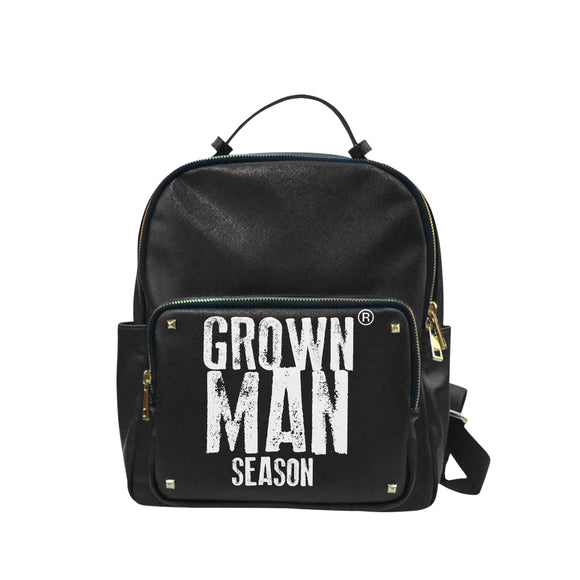 Grown Man Season Large Leather Campus Backpack