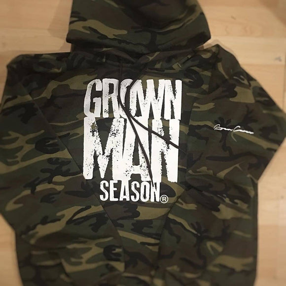 Grown Man Season Unisex Camo Hoodie By Grown Man Season
