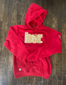 "HER ""Red 14Karat"" Unisex Hoodie By Grown Man Season"
