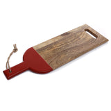 Cheese platter/ chopping board with orange handle