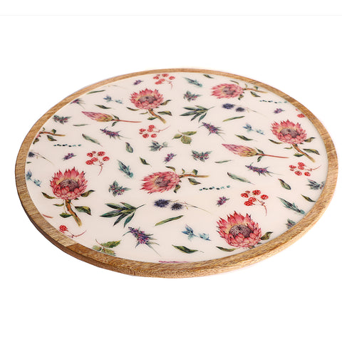 "Lazy Susan - White and pink (15.5"" and 22"")"