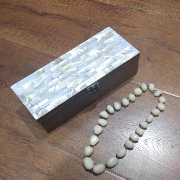Wooden box with mother of pearl