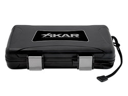 Xikar's 5 Cigar Travel Humidor Black