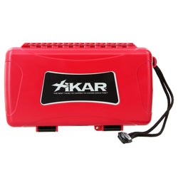 Xikar 10 Cigar Travel Humidor - Red - No Label