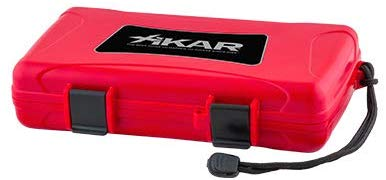 Xikar's 5 Cigar Travel Humidor Red
