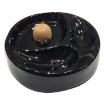 Aztec Pipe Ashtray Black