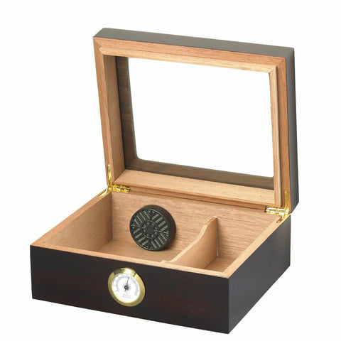 50 Stick Humidor Capri Glasstop Mahogany Finish