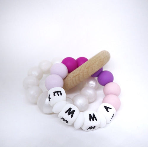 My Name Rattle - OhmyHeartBead