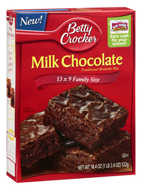 Betty Crocker Milk Chocolate Brownie Mix (522g)