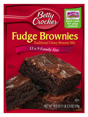 Betty Crocker Fudge Brownie Mix (519g)
