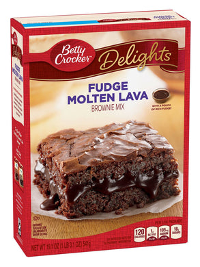 Betty Crocker Fudge Molten Lava Brownie Mix (541g)