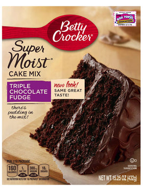 Betty Crocker Triple Chocolate Fudge Cake Mix (432g)