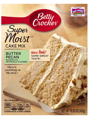 Betty Crocker Butter Pecan Cake Mix (432g)