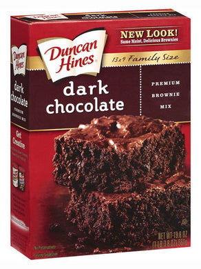 Duncan Hines Family Style Dark Chocolate Fudge Brownies (561g)