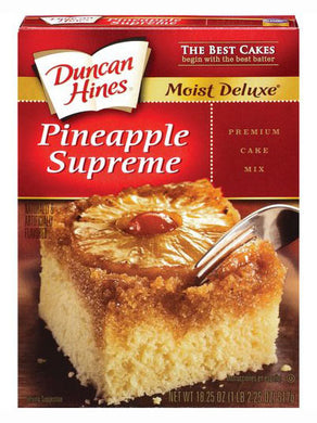 Duncan Hines Moist Deluxe Pineapple Supreme Cake Mix (517g)