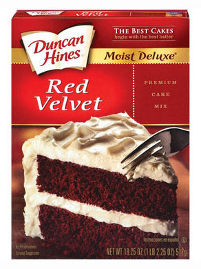 Duncan Hines Moist Deluxe Red Velvet Cake Mix (517g)