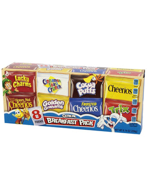 General Mills Breakfast Pack Cereal (8 single packs)