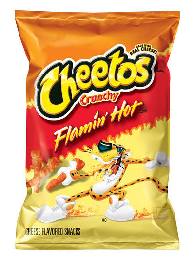 Cheetos Crunchy Flamin' Hot Cheese Snacks (241g)