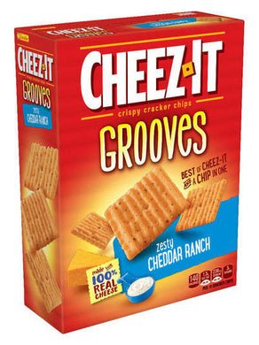 Cheez-It Grooves Zesty Cheddar Ranch Crispy Crackers (255g)