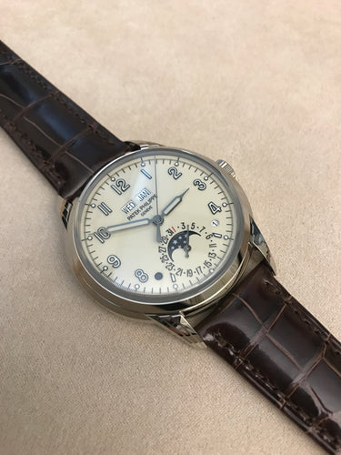 Patek Philippe 5320g Perpetual Calender Moonphase High Complications White Gold on alligator