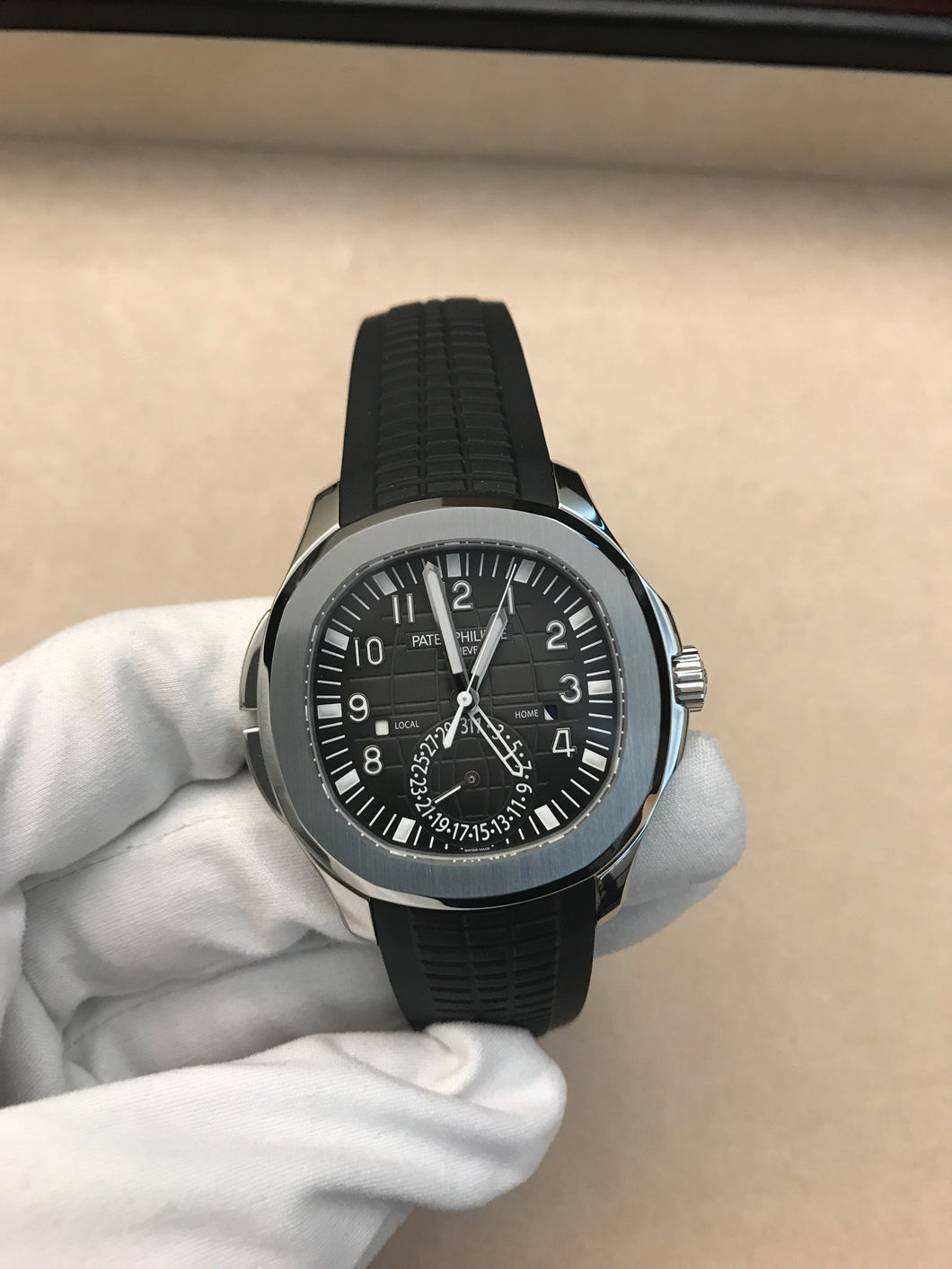 Patek Philippe Aquanaut Travel Time Steel White Glove Watch Company