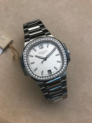 Patek Philippe Aquanaut Steel Silver Diamonds Ladies