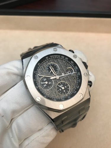 Audemars Piguet Royal Oak Offshore Chronograph Steel Grey Humpback Alligator