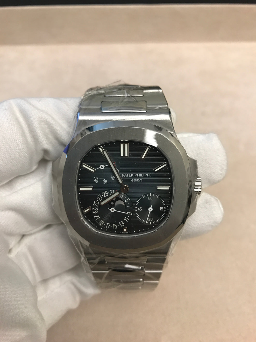 Patek Philippe Nautilus Date Moonphase Small Seconds Power Reserve PP5712-001