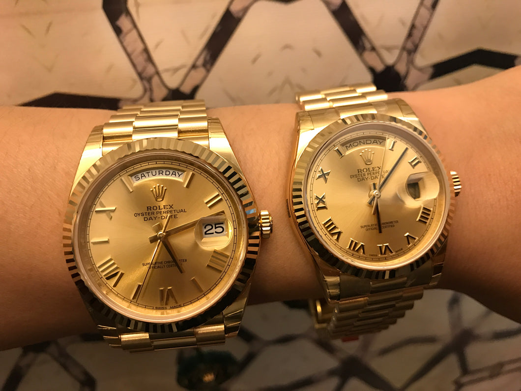 Rolex Day Date 36 40 Yellowgold Champagne Romans President