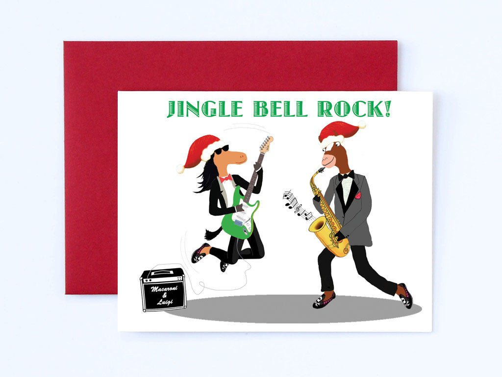 Jingle Bell Rock Christmas Card